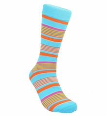 River Blue and Orange Summer Cotton Socks by Paul Malone