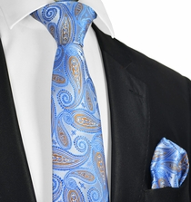 Riviera Blue Tie and Pocket Square Set
