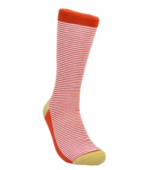 Rust Brown Striped Cotton Socks by Paul Malone
