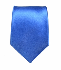 Satin Blue Boys Silk Tie by Paul Malone