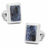 Silver and Sodalite JFK Presidential Cufflinks