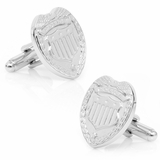 Silver Police Badge Cufflinks