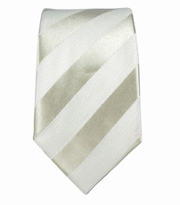 Silver-White Boys Tie . 100% Silk
