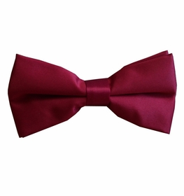 Solid Burgundy Red Bow Tie . Pre-Tied (BT10-R)