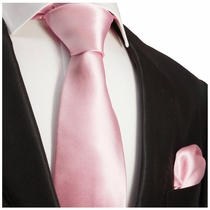 Solid Zephyr Necktie and Pocket Square (Q100-RR)
