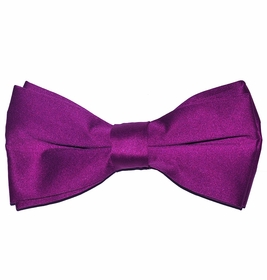 Solid Dark Hot Pink Bow Tie (BT10-KK)
