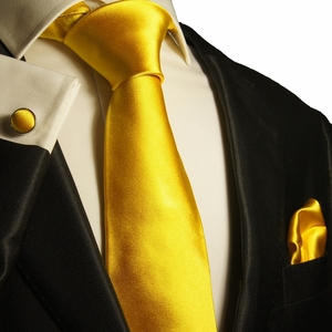 Solid Gold Paul Malone Silk Tie Set (999CH)