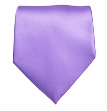 Solid Grape Jam Boys Zipper Tie