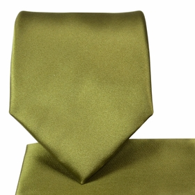Solid Green Necktie & Pocket Square