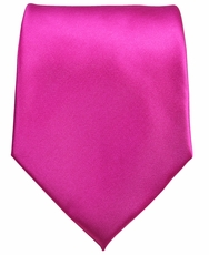 Solid Hot Pink Boys Zipper Tie
