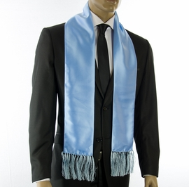 Solid Lite Blue Men's Scarf (SC100-R)