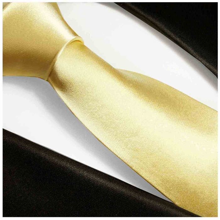 05d2ab775a84 Solid Mellow Yellow Silk Tie Set by Paul Malone