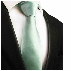 Solid Mint Green Silk Tie by Paul Malone (1001)