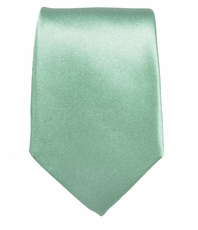Solid Mint Green Slim Tie by Paul Malone