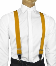 Solid Mustard Men's Suspenders