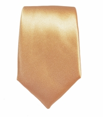 Solid Peach Slim Silk Tie by Paul Malone