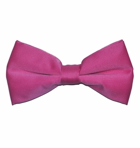 Solid Pink Bow Tie . Pre-Tied (BT10-T)