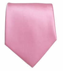 Solid Pink Boys Zipper Tie