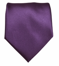 Solid Purple Boys Zipper Tie