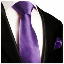 Solid Purple Necktie and Pocket Square Set (Q100-P)