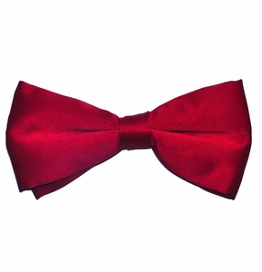Solid Red Bow Tie . Pre-Tied (BT10-N)