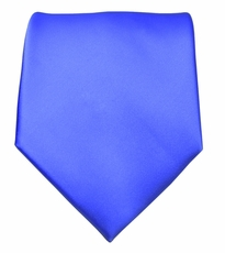 Solid Royal Blue Boys Zipper Tie