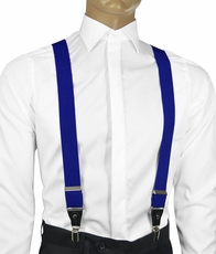 Solid Royal Blue Men's Suspenders