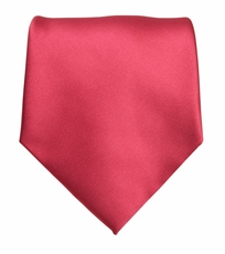 Solid Ruby Red Boys Zipper Tie