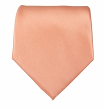 Solid Salmon Boys Zipper Tie