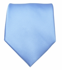 Solid Sky Blue Boys Zipper Tie