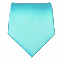 Solid Turquoise Boys Zipper Tie
