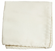 Solid White Pocket Square . 100% Silk (H842)
