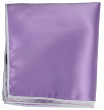 Solid Wisteria Pocket Square with White Border
