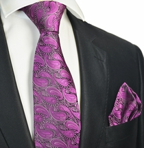 Sparkling Grape Tie and Pocket Square Set
