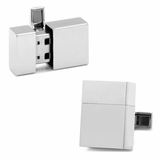 Stainless Steel 16GB USB Flash Drive Cufflinks