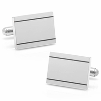 Stainless Steel Engravable Etched Frame Cufflinks