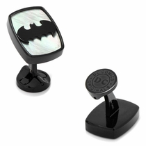 Stainless Steel Mother of Pearl Batman Icon cufflinks