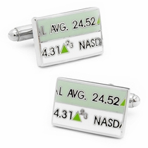 Stock Ticker Cufflinks