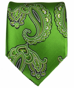 Summer Green Paisley Men's Tie