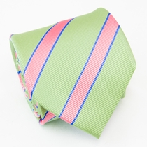 Summer Green Silk Tie by Paul Malone (844)