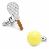 Tennis Ball and Racket Cufflinks