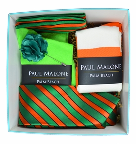 Tie and Socks Gift Box by Paul Malone - Bird of Paradise