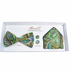 Turquoise Paisley Bow Tie Gift Box