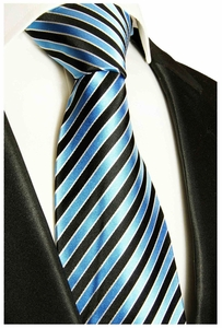 Turquoise Paul Malone Silk Tie (831)