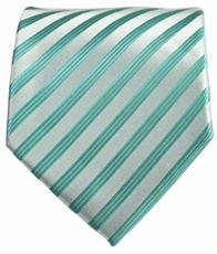Turquoise Striped Men's Necktie