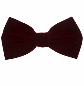 Velvet Bow Tie and Pocket Square . Dark Burgundy