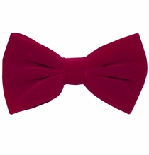 Velvet Bow Tie and Pocket Square . Hot Pink