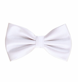 White Bow Tie and Pocket Square Set (BT100-A)