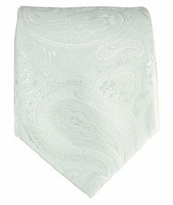 White Paisley Men's Tie
