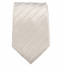 White Slim Necktie by Paul Malone . 100% Silk
